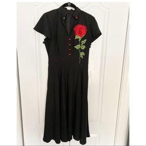 Unique Vintage Black Baltimore Swing Dress